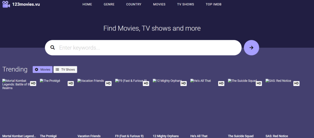 123movies Homepage