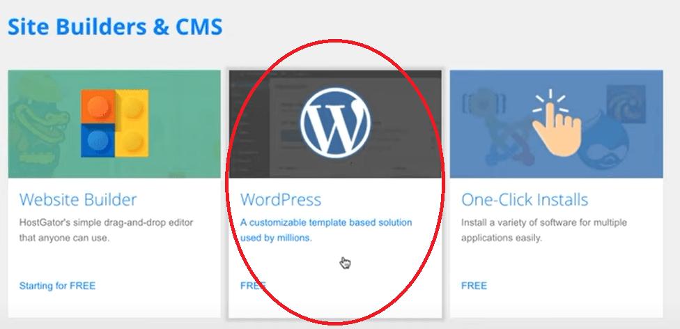 Select WordPress